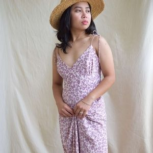 J. Crew Lavender ditsy print silk maxi dress